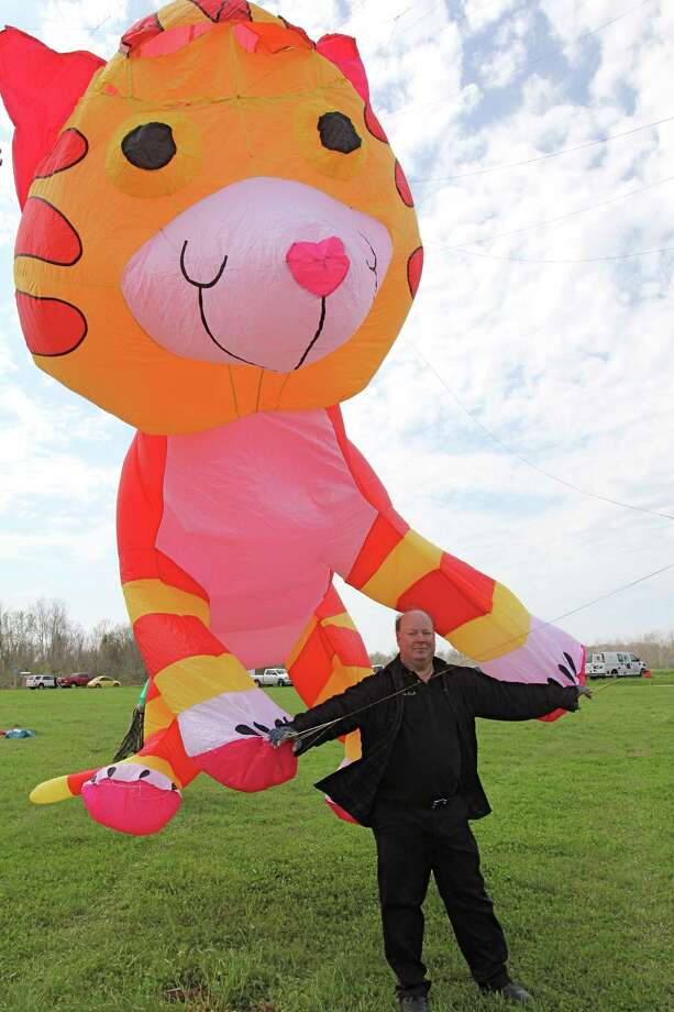 The eighth annual Cultural Kite Festival will be 10 a.m.-3 p.m. Feb. 27 at Sugar Land Memorial Park. Rick Hawkins of Houston, above, enjoys an earlier kite festival in Sugar Land. Photo: Suzanne Rehak, Freelance Photographer