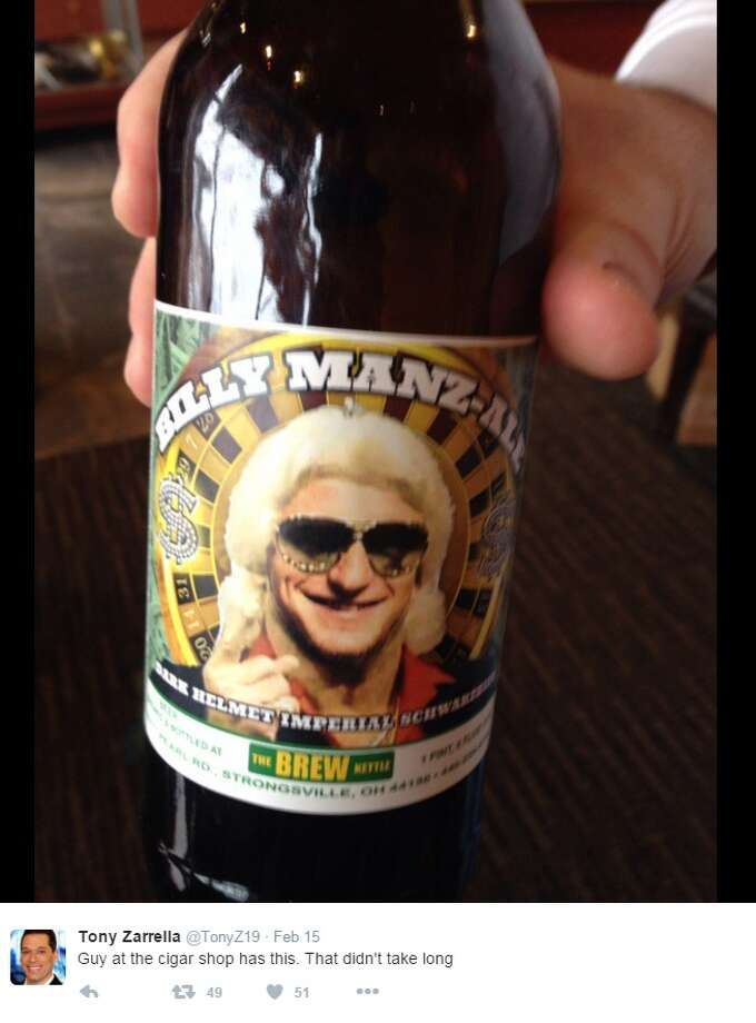 Cleveland Browns' Johnny Manziel may have a hard time finding himself on official NFL merchandise following his recent troubles, but he is now branded on a product that fits his behavior a little more aptly – a pint of beer.