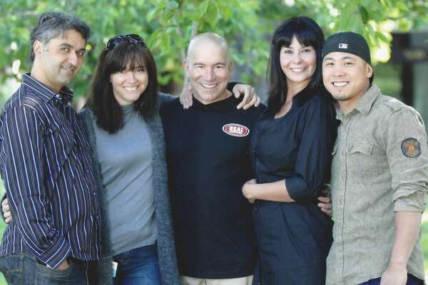 Hooman Khalili, Sarah Clark, Vinnie Hasson, Uzette Salazar and Bryn Nguyen of the Alice morning team.