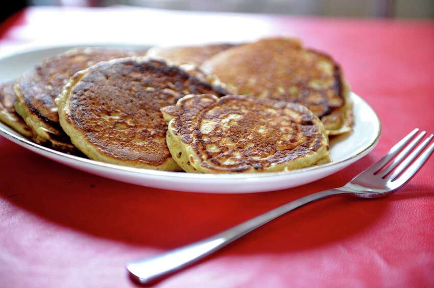 A view of pancakes made by Amy Halloran at her home on Thursday, Feb. 11, 2016, in Troy, N.Y. The pancakes were made with Farmer Ground Flour, pastry wheat. (Paul Buckowski / Times Union)