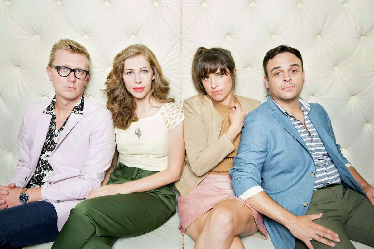 """Lake Street Dive, May 28, Brewery Ommegang, Cooperstown This image released by Big Hassle Media show members of Lake Street Dive, from left, Mike Olson, Rachael Price, Bridget Kearney and Mike Calabrese. The band credits actor Kevin Bacon with boosting their career. Bacon tweeted a link to the band's video of a slow, sultry version of the Jackson 5's """"I Want You Back,"""" and it quickly spread. In three years, the cover has been seen on YouTube more than 3.5 million times. (Danny Clinch/Big Hassle Media vis AP) ORG XMIT: NYET303"""