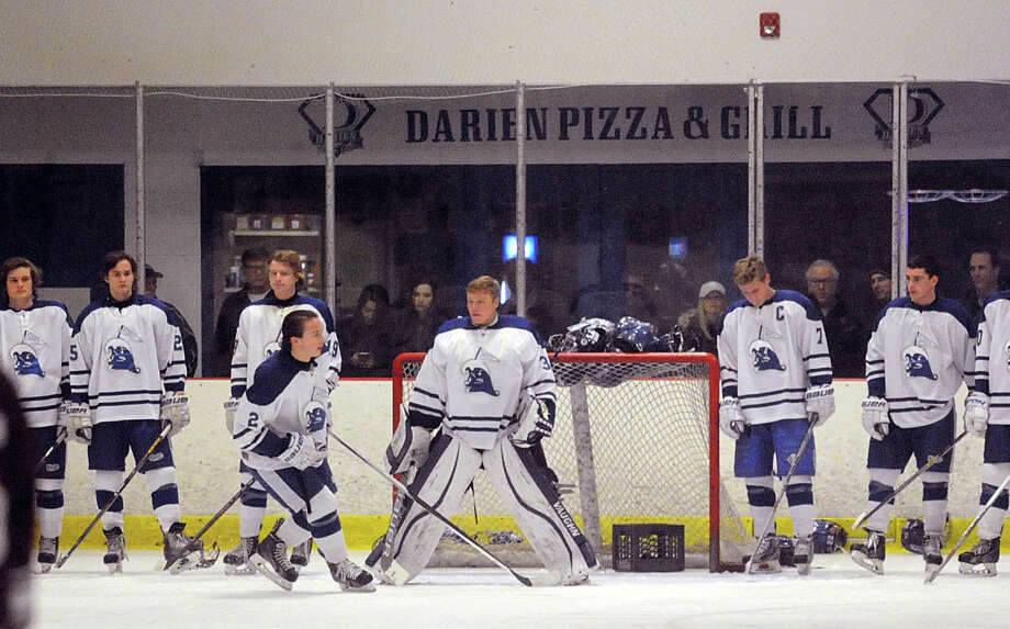 Boys high school ice hockey game between Darien High School and Don Bosco Prep of New Jersey at the Darien Ice Rink in Conn., Thursday, Feb. 11, 2016. Photo: Bob Luckey Jr. / Hearst Connecticut Media / Greenwich Time