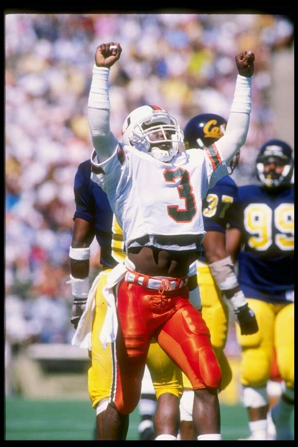 Former Miami wide receiver Randal Hill remains remembered as one of the most colorful players in the Hurricanes' long and proud football history. (Getty Images file photo)