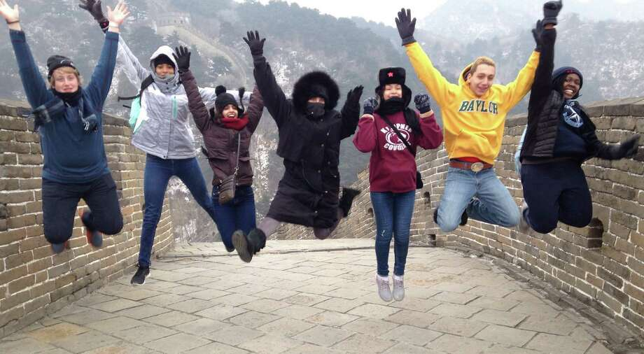 Fort Bend Independent School District students immerse themselves in Chinese culture - including a visit to the Great Wall of China - during a recent study trip. Photo: Fort Bend ISD