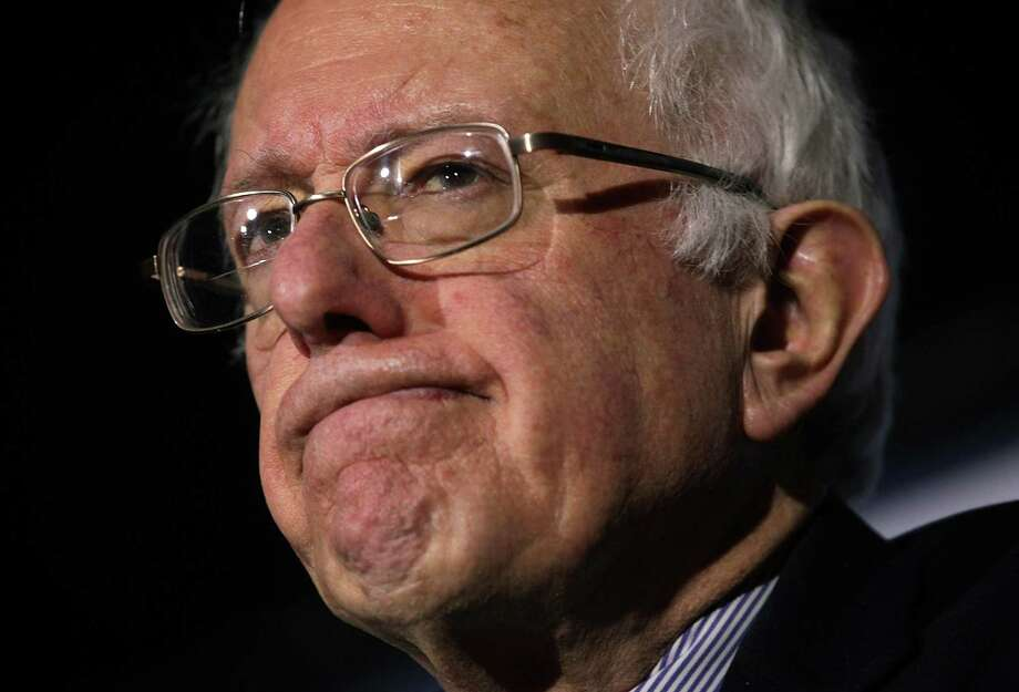 Democratic presidential candidate Bernie Sanders is uninhibited by the constraints of reality, so his answers are always bolder. Photo: Alex Wong /Getty Images / 2016 Getty Images