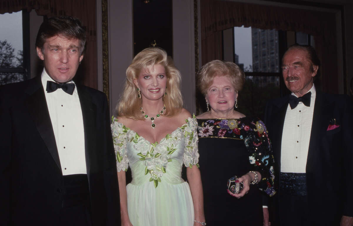 NEW YORK, NY - 1987: Donald Trump, Ivana Trump, Mary Trump and Fred Trump attend PAL Dinner in May 1987 at The Plaza Hotel in New York City.