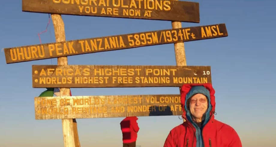 Retiree John Dickinson has revised his bucket list to include studying physics, hiking and biking. He has hiked Mt. Kilimanjaro in Tanzania.
