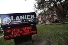 Sidney Lanier Middle School in Houston. ( Elizabeth Conley / Houston Chronicle )