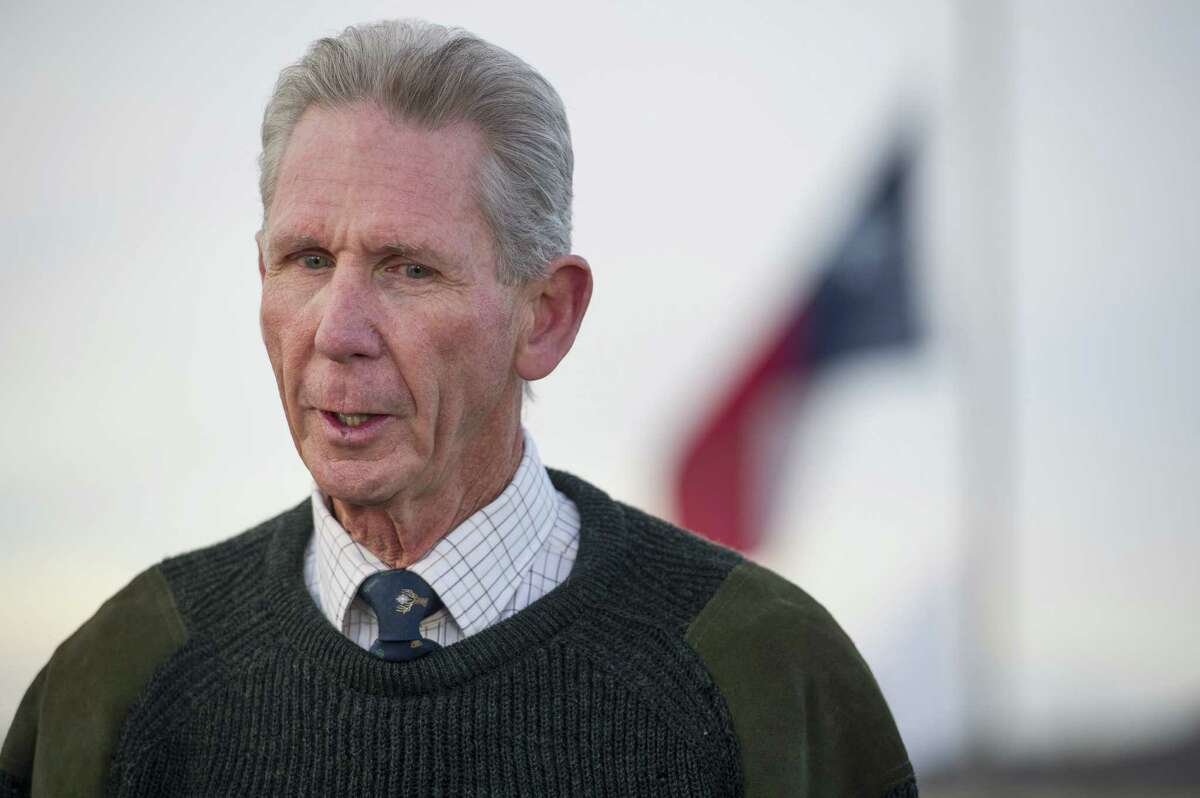 John Poindexter, owner of Cibolo Creek Ranch, speaks to reporters the day after the death of Supreme Court Justice Antonin Scalia at the West Texas Resort ranch Sunday, Feb. 14, 2016, in Shafter, Texas. Poindexter says that he, along with the other members of the weekend's group had an enjoyable evening on Friday before Scalia was found the next morning to be unresponsive in his room.