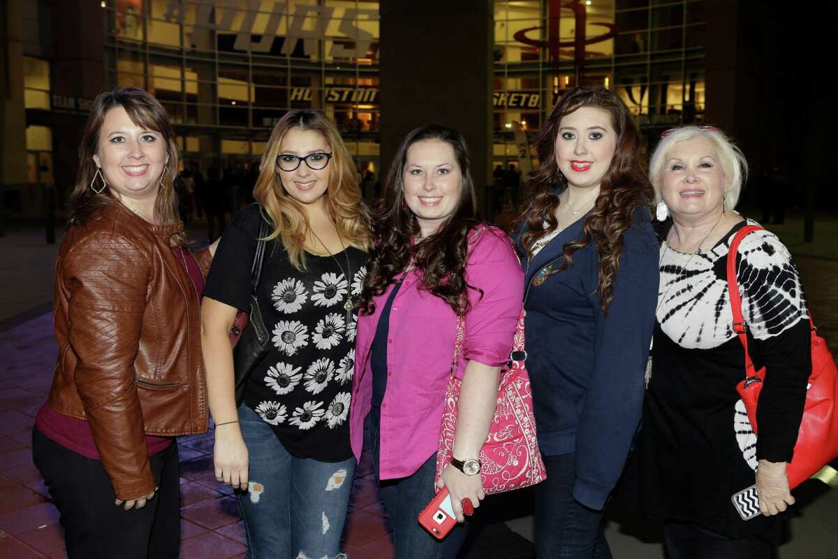 Barry Manilow fans at his Toyota Center concert on Wednesday.