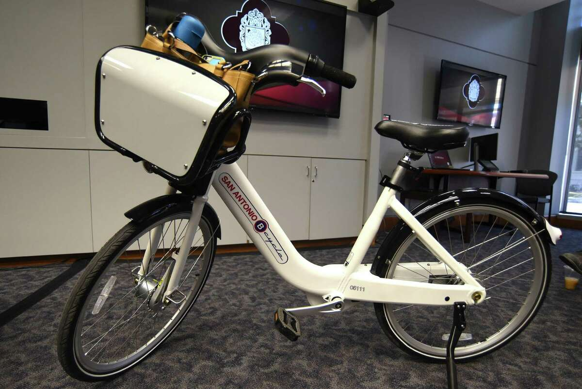The new B-Cycle 2.0, which be be available in April, is lighter and easier to balance than the B-Cycle now in use. It is shown during a B session of the San Antonio City Council on Wednesday.