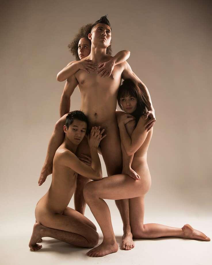 """Tierra Allen, Jepoy Ramos and Ally Reardon in """"Hair."""" Photo: Ben Krantz"""