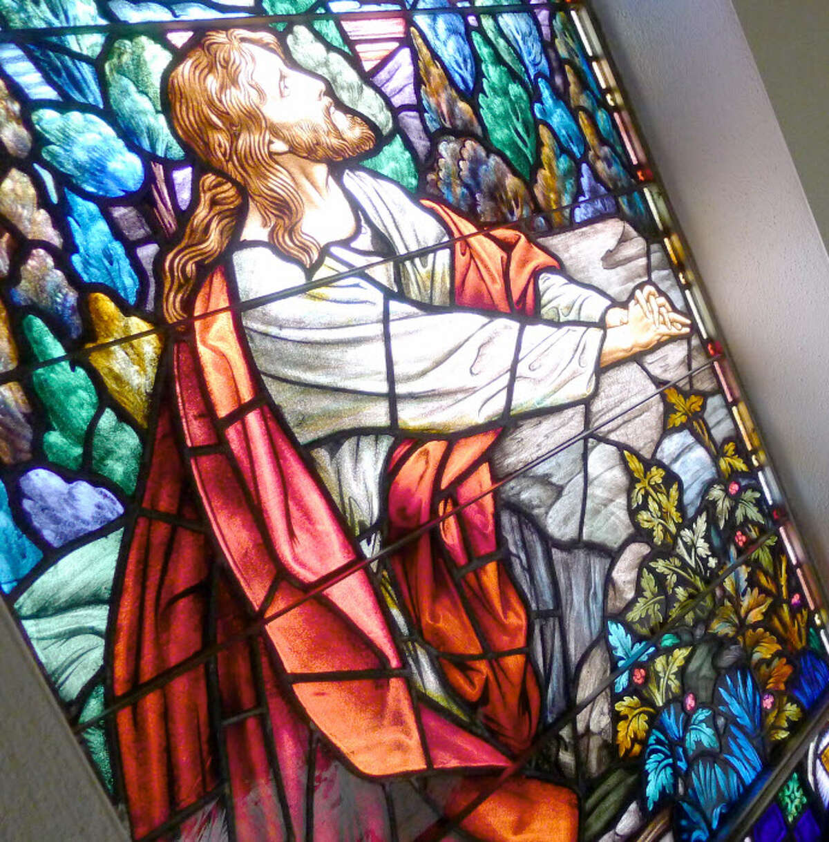 A stained-glass window at Bethany Reformed Church in Albany, N.Y. (Michael P. Farrell/Times Union) ORG XMIT: MER2016021716431932