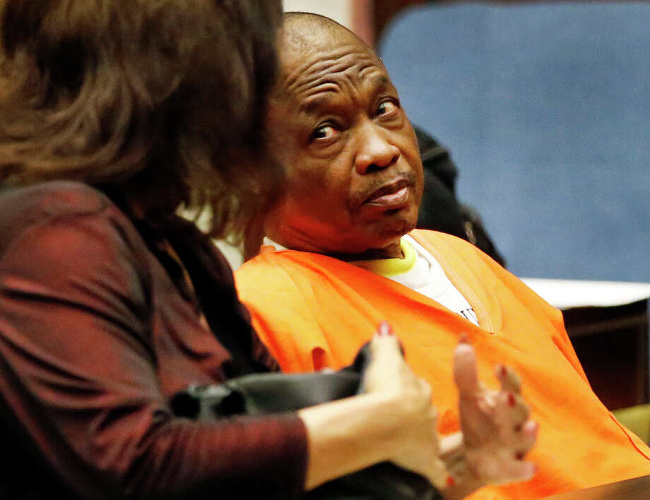 "FILE - A jury has convicted a former Los Angeles trash collector in the ""Grim Sleeper"" serial killings that spanned more than two decades and targeted vulnerable young black women in the inner city. Lonnie Franklin Jr. was found guilty of all 10 slayings in Los Angeles County Superior Court after a two-month trial in the potential death penalty case. He showed no emotion as the verdicts were read. Photo: Al Seib, Getty Images / 2015 Los Angeles Times"