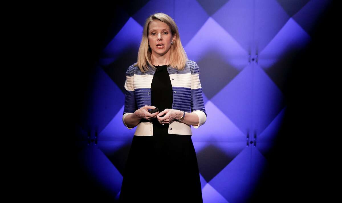 Yahoo CEO Marissa Mayer during the the Yahoo Mobile Device Conference at the Masonic Center on Thurs. February 18, 2016, in San Francisco, California.