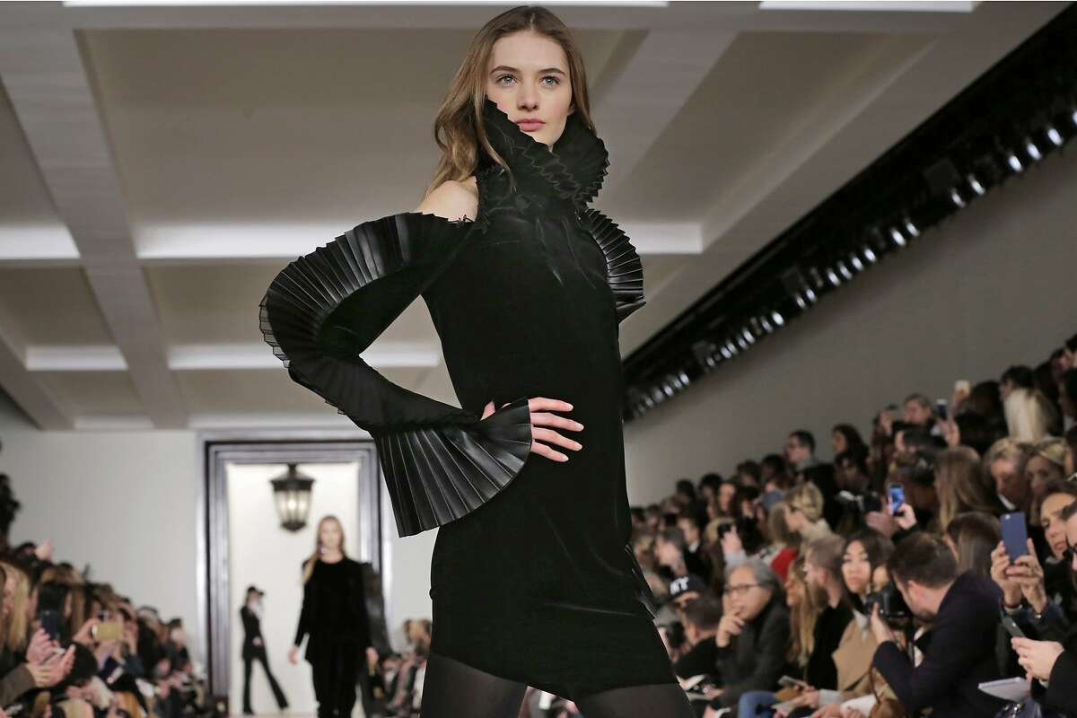 The Ralph Lauren Fall 2016 collection is modeled during Fashion Week in New York, Thursday, Feb. 18, 2016. (AP Photo/Richard Drew)