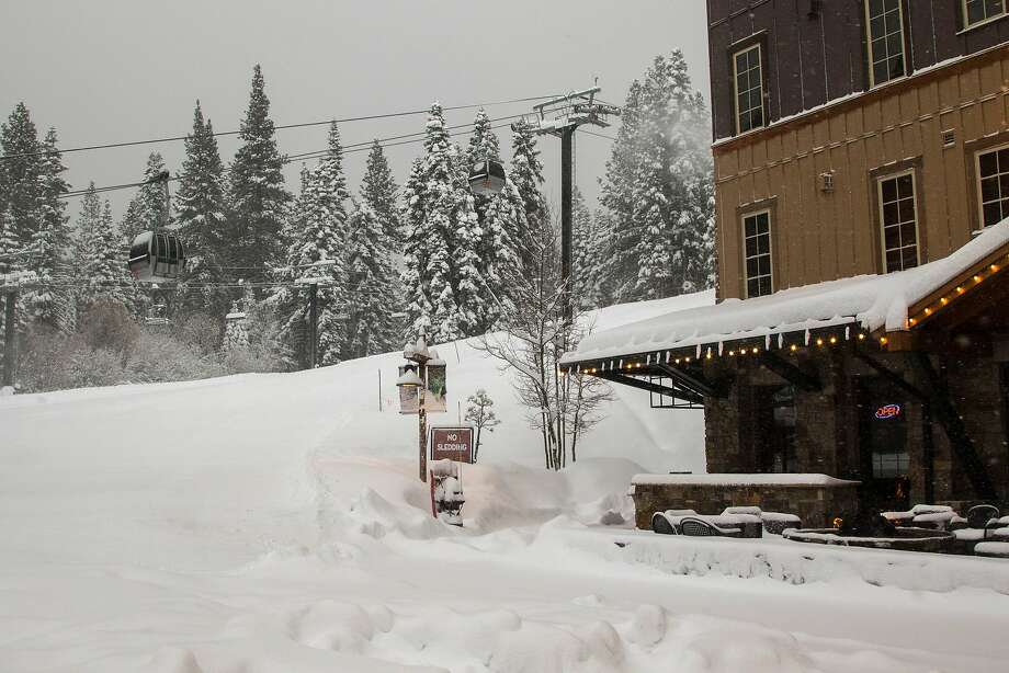 Resorts in the Sierra were hit by some much-needed snow Thursday. Photo: Northstar California Resort