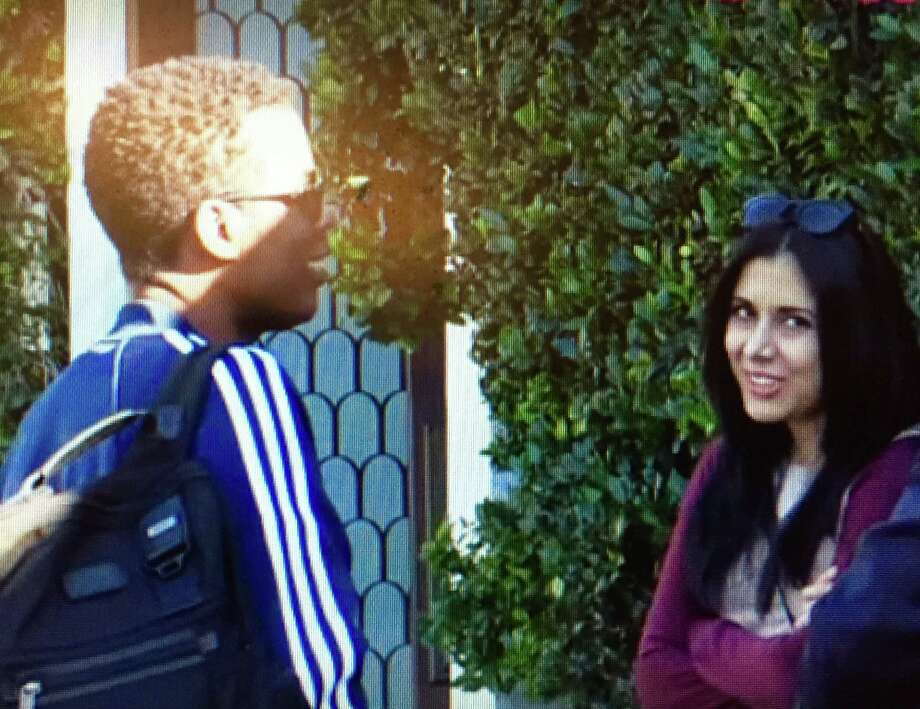 Oscars host Chris Rock chats with one of his scribes, San Antonio native Vanessa Ramos after a writing session. The results will air on ABC-TV's Academy Awards telecast Feb. 28. Photo: Courtesy Photo