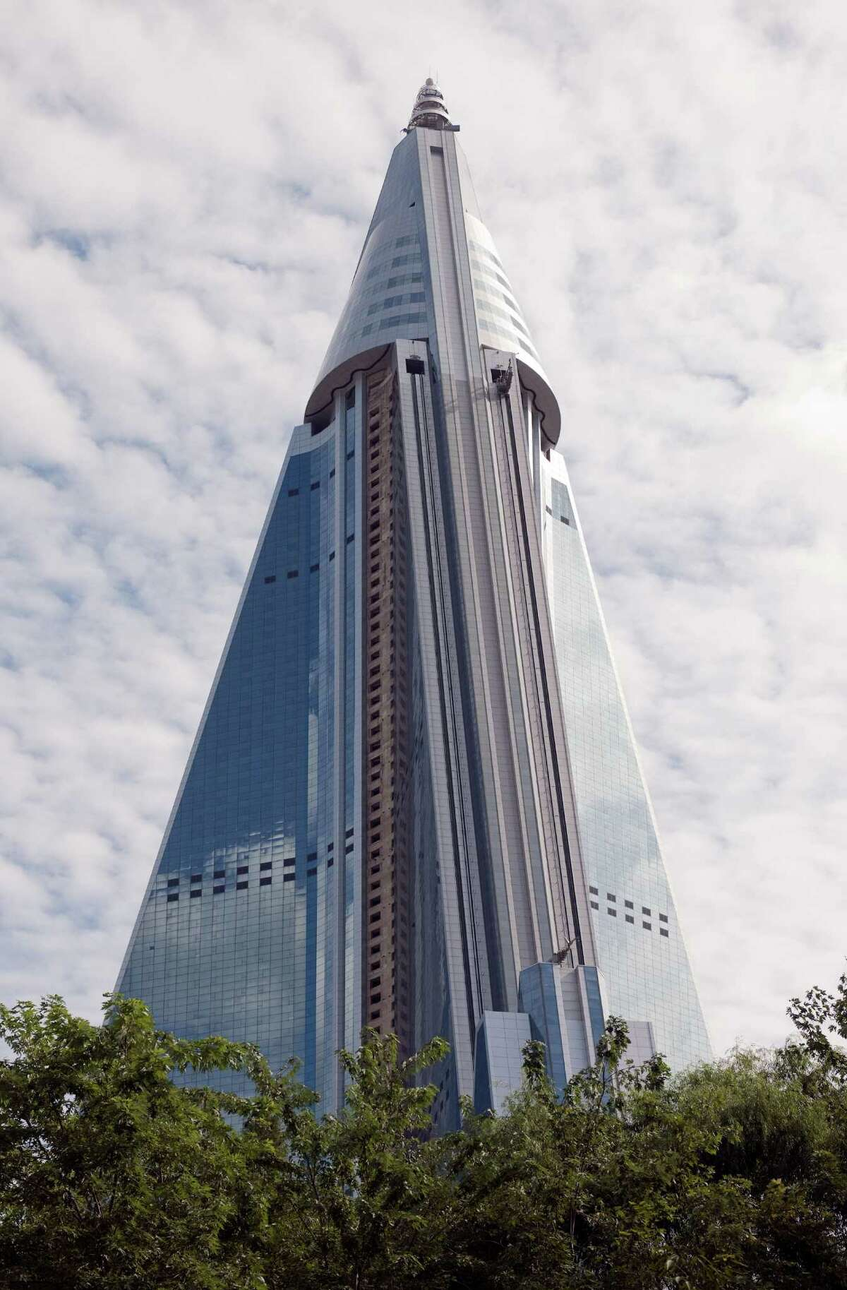 The Ryugyong Hotel on September 19, 2010 in Pyongyang, North Korea.