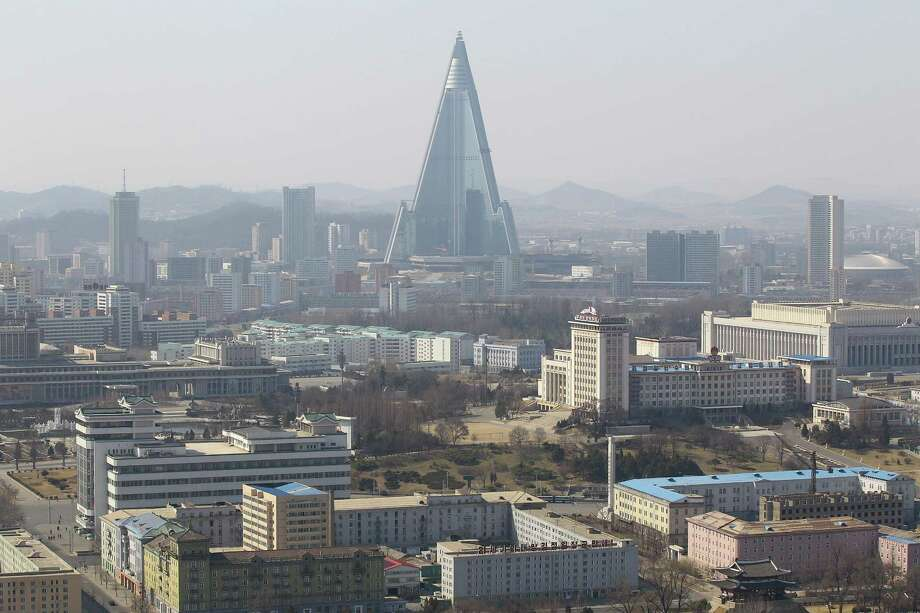 North Korea's tallest structure, the Ryugyong Hotel, is seen  on April 3, 2011 in Pyongyang, North Korea. Photo: Feng Li, Getty Images / 2011 Getty Images