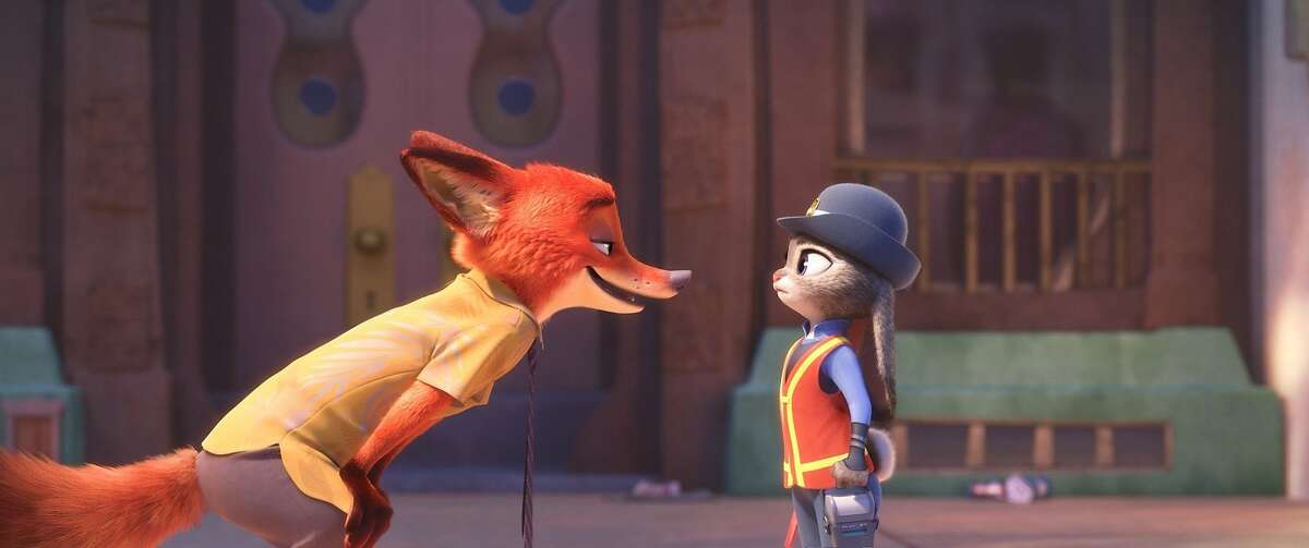"""Nick Wilde (voiced by Jason Bateman) is a fox on the hustle, while Judy Hopps (voiced by Ginnifer Goodwin) is a rookie cop trying to make a difference in inter-species relations in Disney's new animated film """"Zootopia."""""""