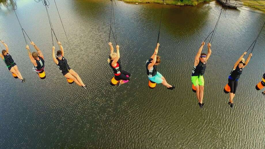 This week's challenge: Trivia Wedgie. It's basically exactly what it sounds like. Photo: CMT
