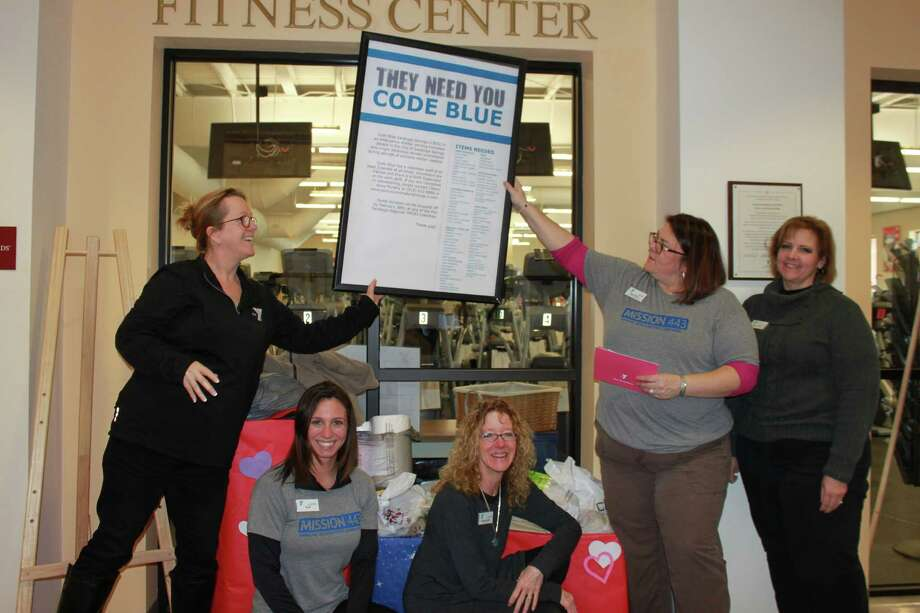 The Saratoga Regional YMCA collecting items for Code Blue. Photo Provided.