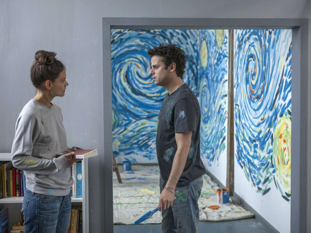 """Katie Holmes and Luke Kirby star as manic-depressive poets in """"Touched With Fire."""""""