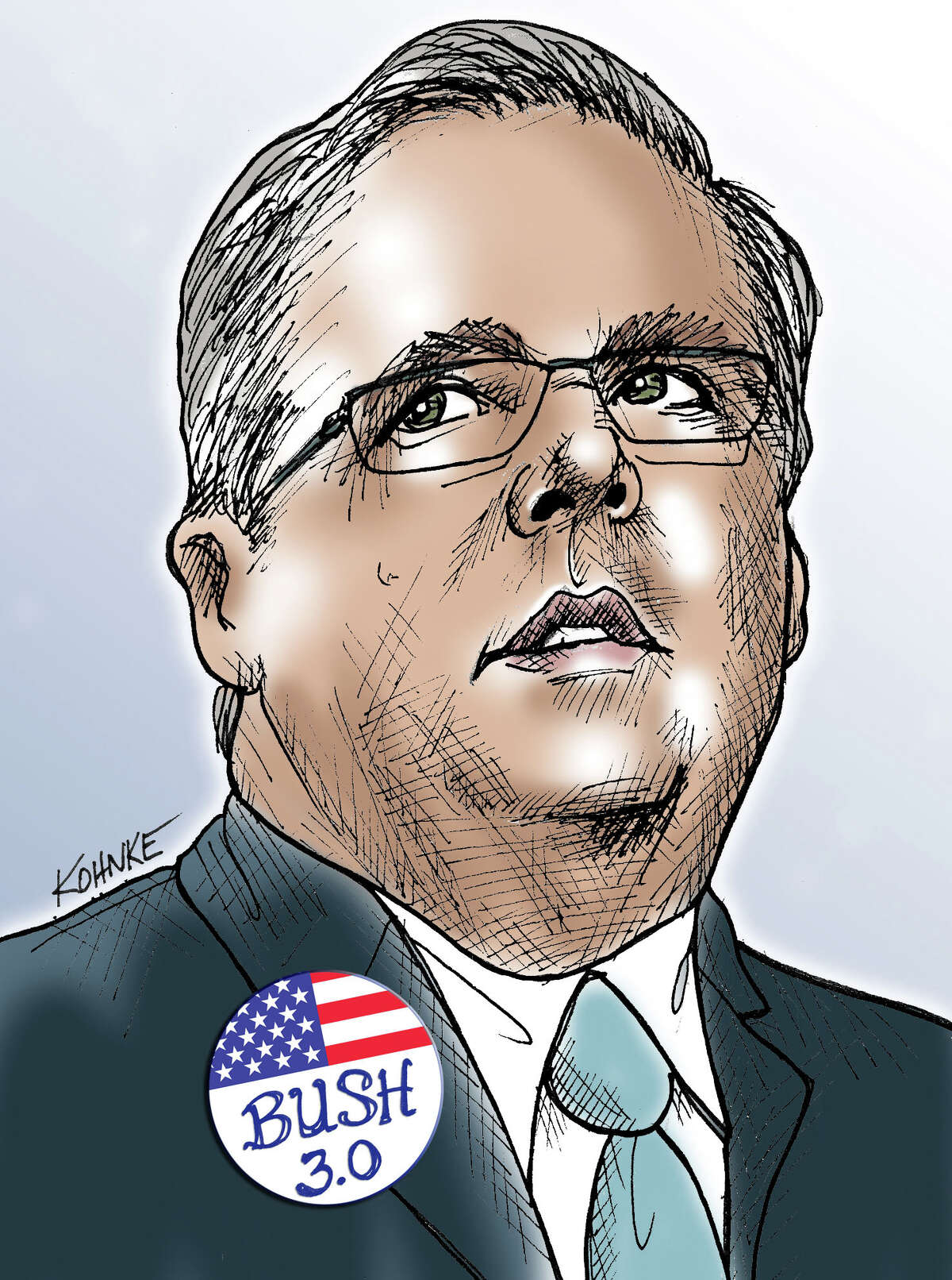 This artwork by Jennifer Kohnke relates to Jeb Bush as a possible candidate for campaign 2016.