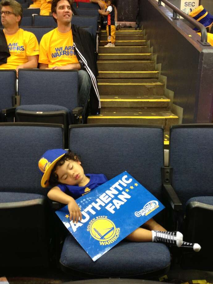 Cheering on the Warriors takes a lot out of you! Photo: Marcchris