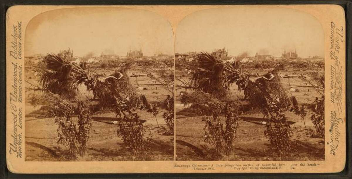 1900: Once a section of homes, this area was destroyed by the 1900 hurricane.