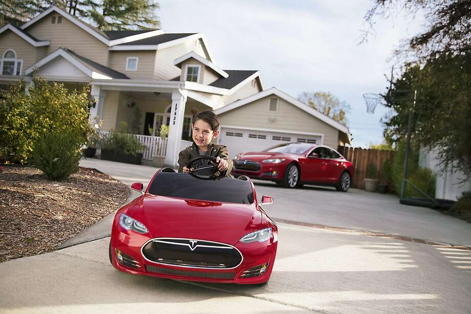 Tesla Motors doesn't do traditional advertising but still finds ways to catch the public's eye. Tesla collaborated with Radio Flyer, for example, to make a children's version of the Model S sedan. Photo: Joe Martinez Jr., Photo: Radio Flyer