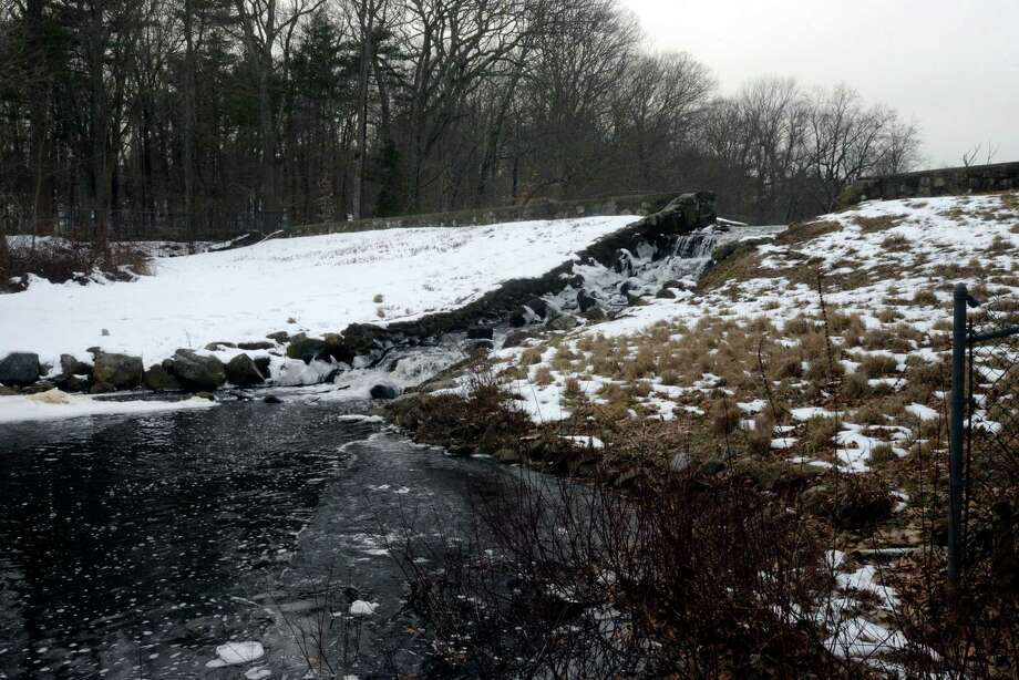 Bendels Pond Dam at the Stamford Museum & Nature Center is classified by the state as a significant risk. Photo: Matthew Brown / Hearst Connecticut Media / Stamford Advocate