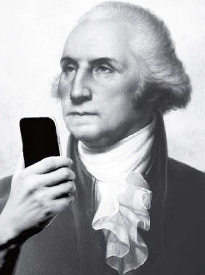 "Did George Washington ""selfie"" here? The nation's father certainly dined in Fairfield at the historic Sun Tavern, and may have stayed overnight. ìLook at Me! Recording and Sharing Our Selves,î an exhibtion opening Feb. 18 at the Fairfield Museum and History Center, will focus on other personal portraits through the town's four centuries of history. Photo: Contributed Photo / Fairfield Citizen"