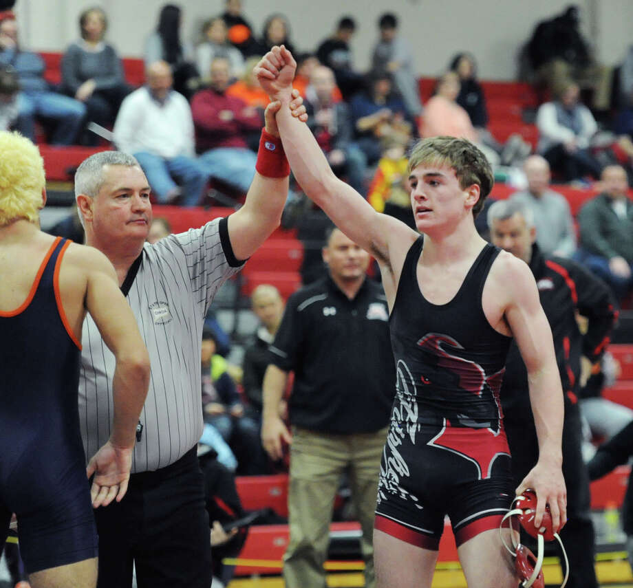 Warde's Tim Kane was the winner in the 132 pound division at FCIACs last weekend. Photo: Bob Luckey Jr. / Hearst Connecticut Media / Greenwich Time