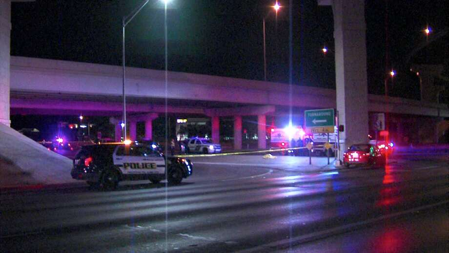 A man fell to his death Friday morning following a crash on a flyover ramp on the North Side, according to the San Antonio Police Department. Photo: 21 Pro Video