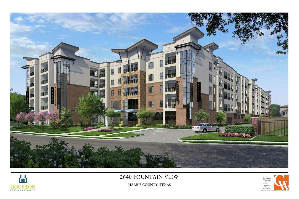 The Houston Housing Authority's proposed mixed-income apartment complex is facing protests from residents who say there is no room in area schools for the 45 to 60 students the complex would add. at 2640 Fountain View.