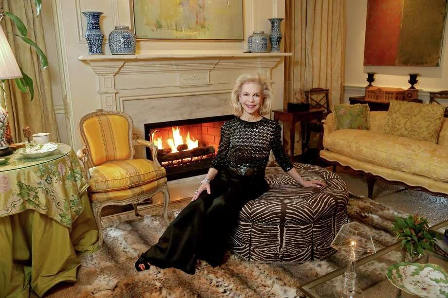 Lynn Wyatt, philanthropist and socialite, at her home Wednesday, Jan. 20, 2016, in Houston, Texas. Photo: Gary Coronado, Houston Chronicle / © 2015 Houston Chronicle