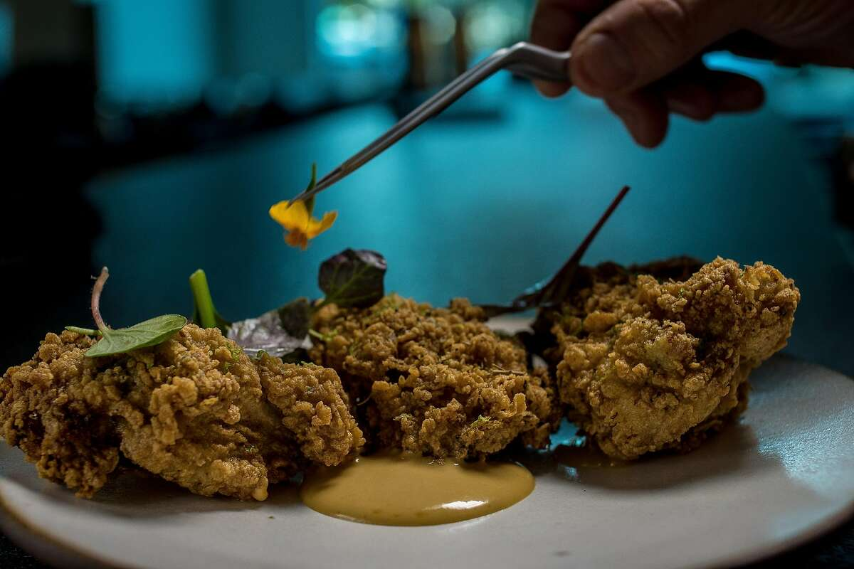 The Fried Chicken Thighs at Bird Dog in Palo Alto, Calif. are seen on February, 18th, 2016.