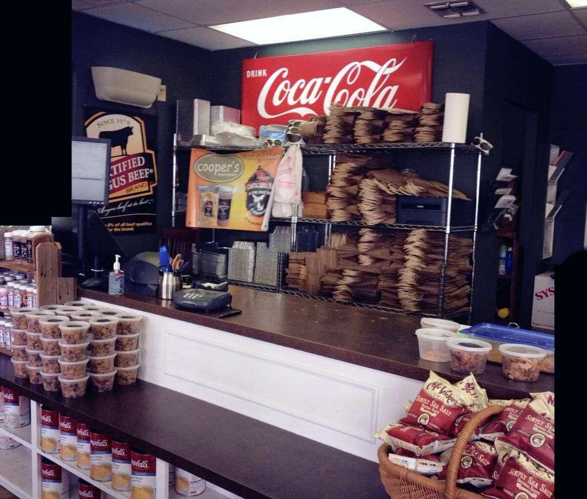 Interior of Cooper's Meat Market