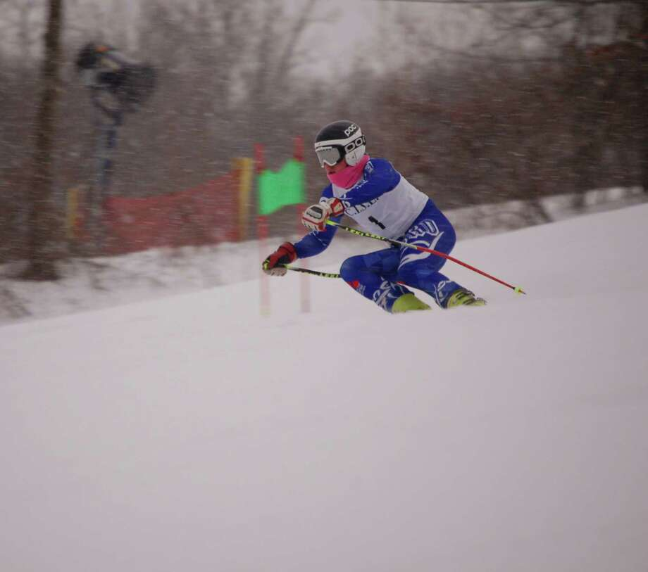 Staples junior Campbell Ashman competes during a meet last season. The Wreckers boys and girls ski teams are undefeated this season. Photo: / Contributed Photo / Westport News Contributed