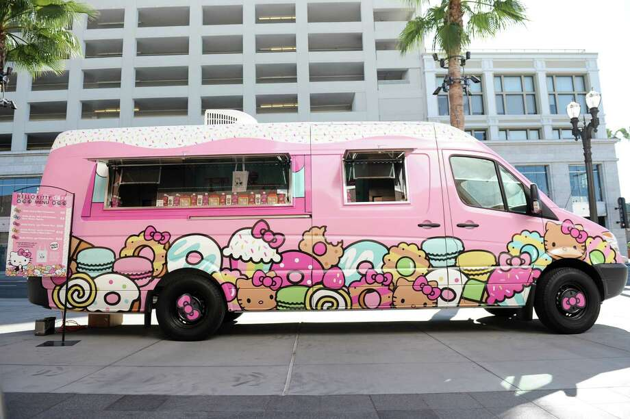 The Hello Kitty Cafe Truck will make a two-day appearance at the Woodlands Mall May 27. Photo: Sanrio