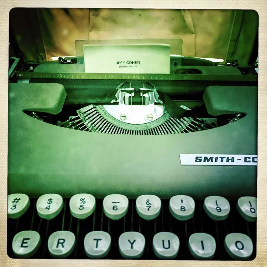 Jeff Cohen's typewriter that he used on assignments, back in the day! Photo: Karen Warren
