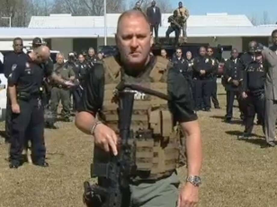 Captain Clay Higgins with the St. Landry Parish police force in Louisiana is everyone's favorite outspoken law enforcement agent on YouTube. Photo: Abbeville Police