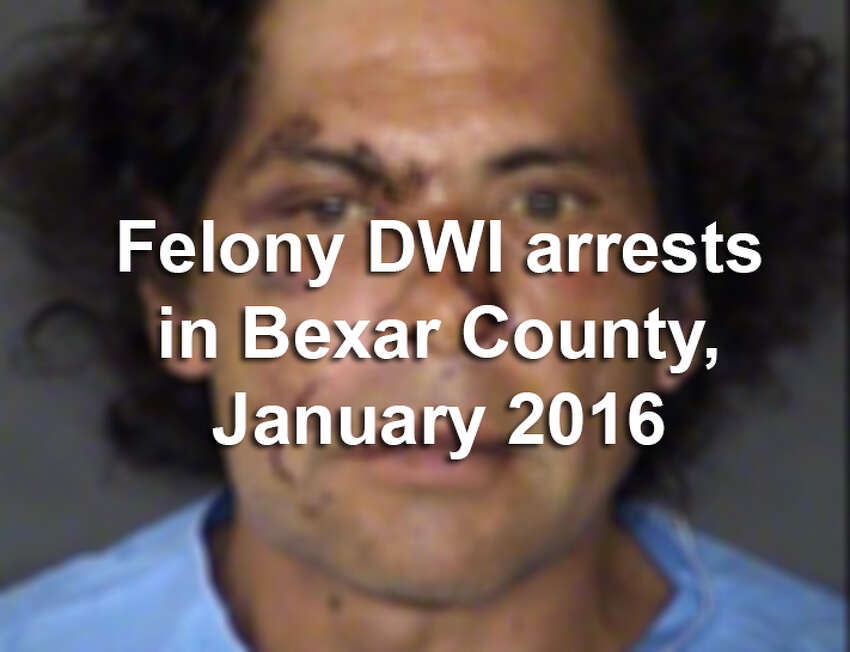 Scroll through the slideshow to see the 66 people arrested on felony drunken driving charges during January 2016 in Bexar County.