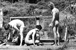 Laundry and bath day at Wheeler's Ranch - near Bodega Bay, CA.   July 27, 1970 p4
