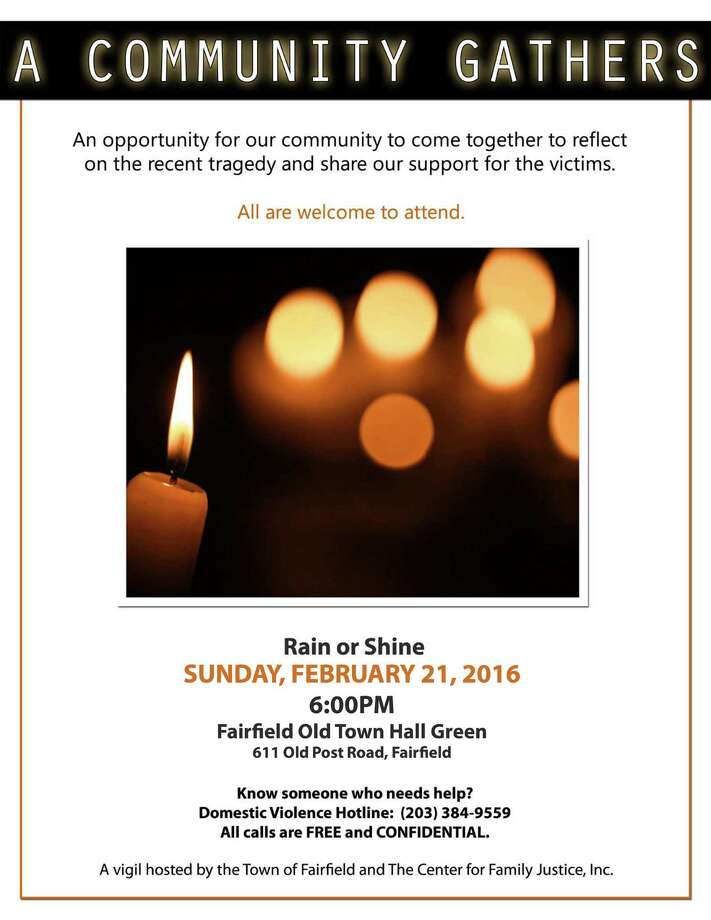 A flyer for a community vigil for victims of domestic violence planned for Sunday at the the Old Town Hall Green in Fairfield, Conn. The Andrews family is not endorsing and has no affiliation with the vigil. Photo: Contributed Photo / Contributed Photo / Connecticut Post contributed