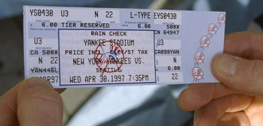 1997 Yankees ticket for game against the Seattle Mariners at Yankee Stadium Photo: New York Daily News Archive Via Getty Images / 1997/Daily News, L.P. (New York) NY Daily News Archive via Getty Images