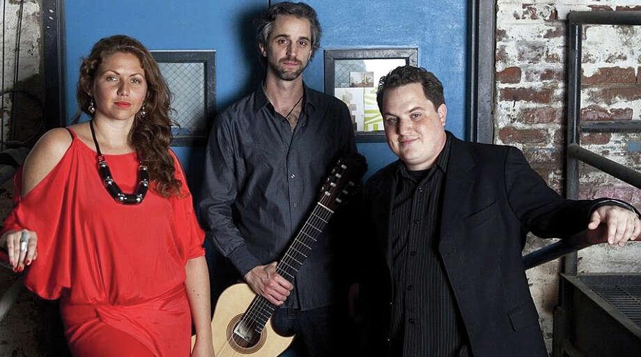 La Voz de Tres, a Latin jazz trio, will perform March 6 at the Westport Arts Center. Photo: Contributed Photo / Contributed Photo / Westport News