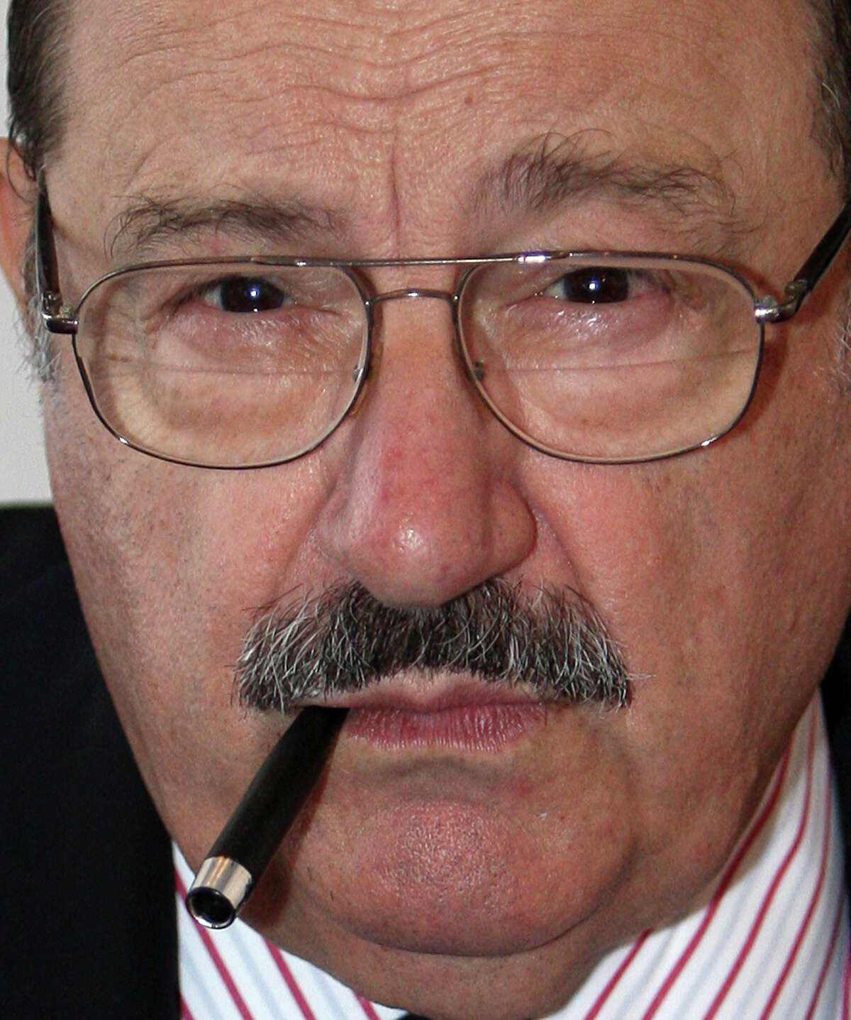 """FILE - In this Wednesday, Sept. 30, 2009 file photo, Italian writer Umberto Eco is seen prior to a press conference at the Louvre Museum in Paris, France. Eco, best known for the international best-seller ?""""The Name of the Rose,?"""" died Friday, Feb. 19, 2016. He was 84. (AP Photo/Remy de la Mauviniere, File) ORG XMIT: ROM101"""